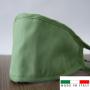 Mascherina in cotone lavabile Porta-Filtro Verde Chiaro TG:L