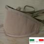 Mascherina in cotone lavabile Porta-Filtro Beige TG:S