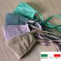 Mascherina in cotone lavabile Porta-Filtro Beige TG:M